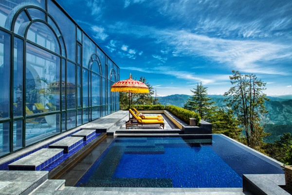 The Outdoor Infinity Whirlpool - Wildflower Hall, Shimla in the Himalayas - An Oberoi Resort