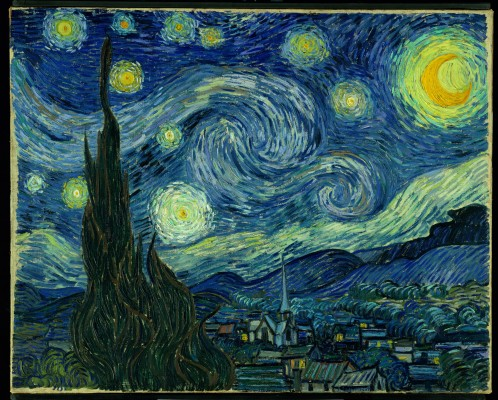 "Vincent van Gogh. The Starry Night. 1889. Oil on canvas. 29 x 36 1/4"" (73.7 x 92.1 cm). The Museum of Modern Art, New York. Acquired through the Lillie P. Bliss Bequest. Photograph © 2004 The Museum of Modern Art, New York."