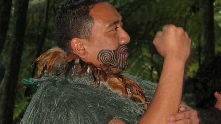 A Maori at Tamaki Maori Village, Rotorua, Image courtesy of Robert Lindell