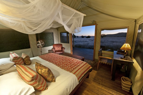 Desert Rhino Camp inside tent